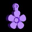flower_fob_-_solid_.stl Télécharger fichier STL gratuit Fleurs Fobs..... Des porte-clés Flower qui tournent ! • Modèle pour impression 3D, Muzz64
