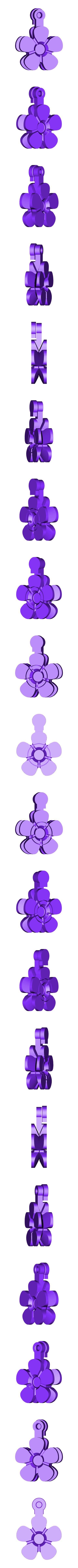 flower_fob_.stl Download free STL file Flower Fobs... Flower Key Fobs that Spin! • 3D printing object, Muzz64