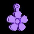 flower_fob_.stl Télécharger fichier STL gratuit Fleurs Fobs..... Des porte-clés Flower qui tournent ! • Modèle pour impression 3D, Muzz64