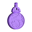BB8_Key_Fob_BB8.stl Download free STL file Rotating BB8 Droid and BB8 Key Fob • Design to 3D print, Muzz64