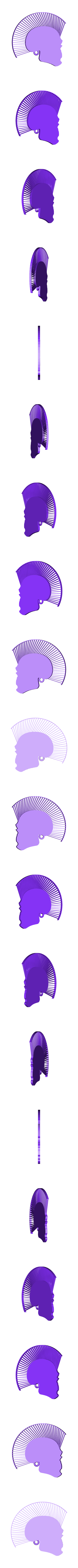 punk_hairy_1_fixed1.stl Télécharger fichier STL gratuit Porte-clés tête de mort avec cheveux • Modèle pour imprimante 3D, 3dlito