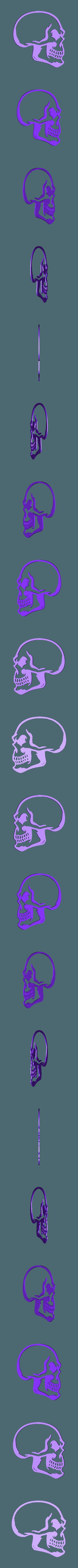 punk_hairy_3_fixed1.stl Télécharger fichier STL gratuit Porte-clés tête de mort avec cheveux • Modèle pour imprimante 3D, 3dlito