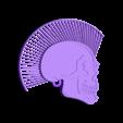 punk_hairy_anilla_fixed1.stl Télécharger fichier STL gratuit Porte-clés tête de mort avec cheveux • Modèle pour imprimante 3D, 3dlito
