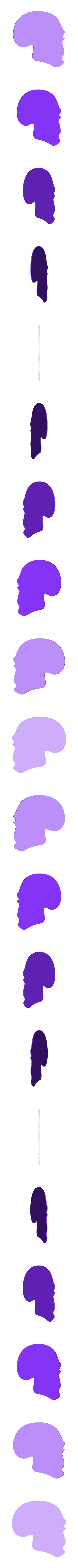 punk_hairy_2_fixed1.stl Télécharger fichier STL gratuit Porte-clés tête de mort avec cheveux • Modèle pour imprimante 3D, 3dlito