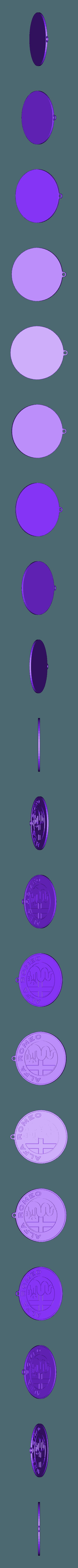 BRELOK ALFA.stl Télécharger fichier STL gratuit PENDENTIF ALFA ROMEO • Modèle à imprimer en 3D, przemek
