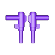 20_Bee_Gun_LIGHTBLUE.stl Download free STL file ARTICULATED G1 TRANSFORMERS BUMBLEBEE - NO SUPPORT • 3D printing model, Toymakr3D