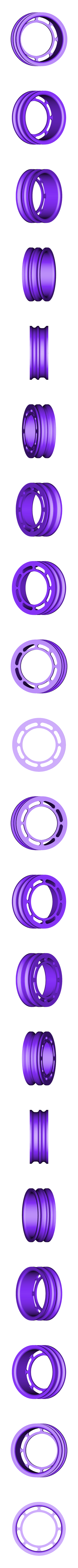 X_Pulley.stl Télécharger fichier STL gratuit Moteur pneumatique radial simple • Modèle pour imprimante 3D, Slava_Z