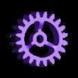 Gears_1to3_1.stl Télécharger fichier STL gratuit Moteur pneumatique radial simple • Modèle pour imprimante 3D, Slava_Z