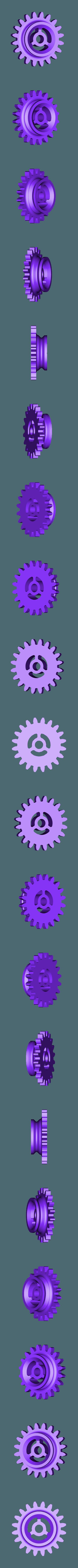 Gears_1to2.stl Télécharger fichier STL gratuit Moteur pneumatique radial simple • Modèle pour imprimante 3D, Slava_Z