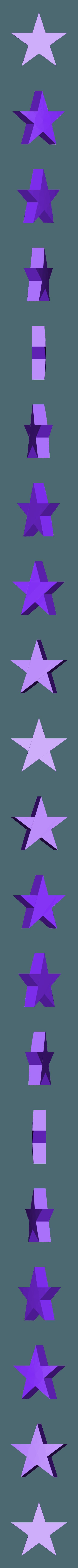 white_star.stl Télécharger fichier STL gratuit Porte-clés Captain America Shield • Modèle pour impression 3D, LucasLabrador