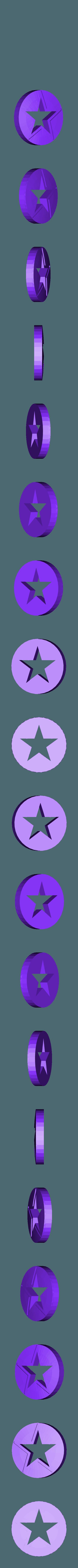 blue.stl Télécharger fichier STL gratuit Porte-clés Captain America Shield • Modèle pour impression 3D, LucasLabrador