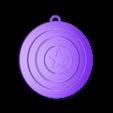assembled.stl Télécharger fichier STL gratuit Porte-clés Captain America Shield • Modèle pour impression 3D, LucasLabrador