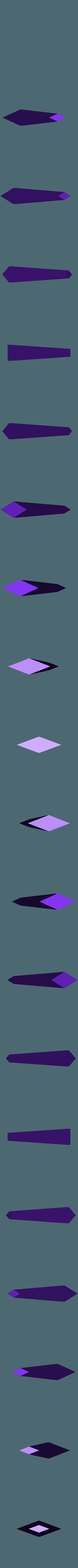 nail_mid_top.stl Télécharger fichier STL gratuit Clou cannelé de Hollow Knight • Modèle à imprimer en 3D, Lance_Greene