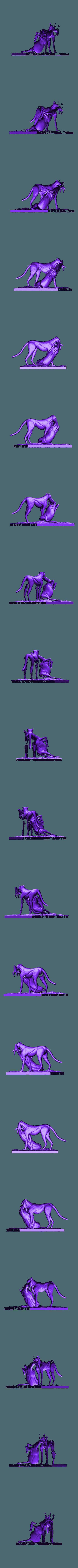Hunt_scene.stl Download free STL file Cheetah and Gazelle scene • 3D printing design, CarlCreates