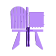 Complete_Chair.stl Download free STL file Adirondack Chair • 3D printing design, Lurgmog