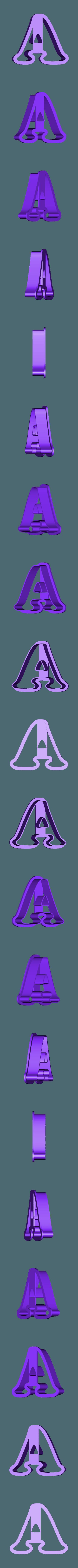 a.stl Download free STL file A-Z alphabet cookie cutter • 3D printer design, BlackSand3DMaker
