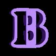 b.stl Download free STL file A-Z alphabet cookie cutter • 3D printer design, BlackSand3DMaker