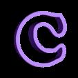 c.stl Download free STL file A-Z alphabet cookie cutter • 3D printer design, BlackSand3DMaker