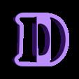 d.stl Download free STL file A-Z alphabet cookie cutter • 3D printer design, BlackSand3DMaker