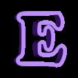 e.stl Download free STL file A-Z alphabet cookie cutter • 3D printer design, BlackSand3DMaker