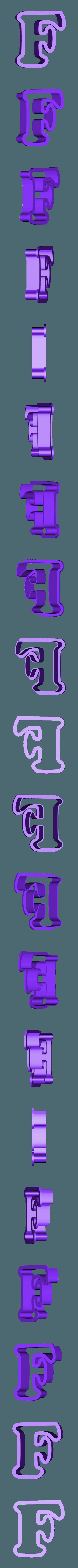 f.stl Download free STL file A-Z alphabet cookie cutter • 3D printer design, BlackSand3DMaker