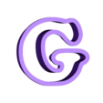 g.stl Download free STL file A-Z alphabet cookie cutter • 3D printer design, BlackSand3DMaker