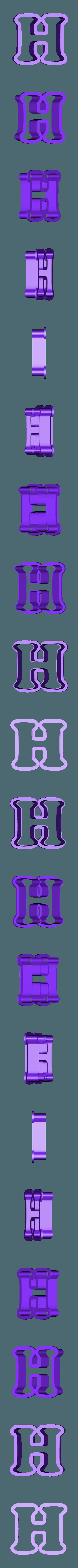 h.stl Download free STL file A-Z alphabet cookie cutter • 3D printer design, BlackSand3DMaker