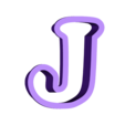 j.stl Download free STL file A-Z alphabet cookie cutter • 3D printer design, BlackSand3DMaker