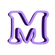 m.stl Download free STL file A-Z alphabet cookie cutter • 3D printer design, BlackSand3DMaker