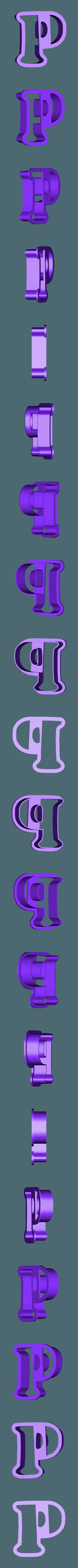 p.stl Download free STL file A-Z alphabet cookie cutter • 3D printer design, BlackSand3DMaker