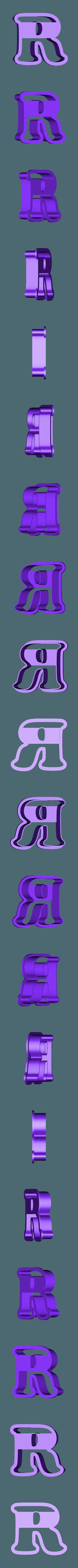 r.stl Download free STL file A-Z alphabet cookie cutter • 3D printer design, BlackSand3DMaker