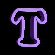 t.stl Download free STL file A-Z alphabet cookie cutter • 3D printer design, BlackSand3DMaker