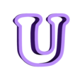 u.stl Download free STL file A-Z alphabet cookie cutter • 3D printer design, BlackSand3DMaker