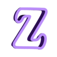 z.stl Download free STL file A-Z alphabet cookie cutter • 3D printer design, BlackSand3DMaker