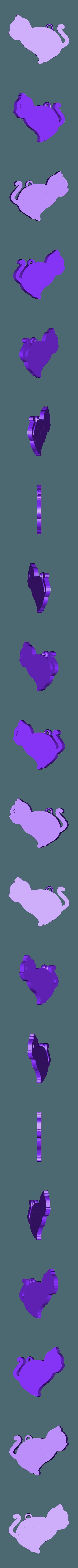cat_skeleton_v1.stl Download free STL file Cat skeleton keychain lithophane • 3D printing object, 3dlito