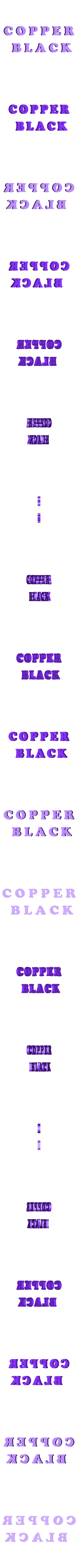 COPPER.stl Download free STL file Test COPPER BLACK font  3d letters  free download • 3D print design, 3dlettersandmore