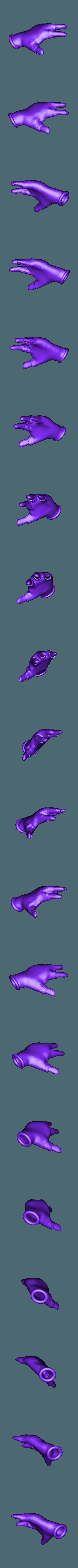 luva_esq.stl Télécharger fichier OBJ gratuit Crash Bandicoot • Design pour impression 3D, Dream_it_Model_it
