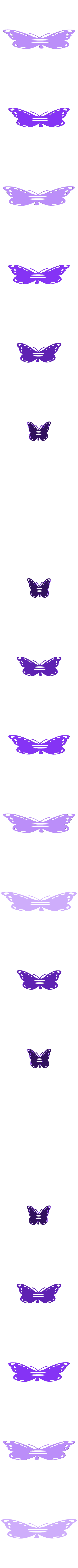Flappy_Butterfly_3dprintny.stl Download free STL file Butterfly Fun • 3D print template, barb_3dprintny