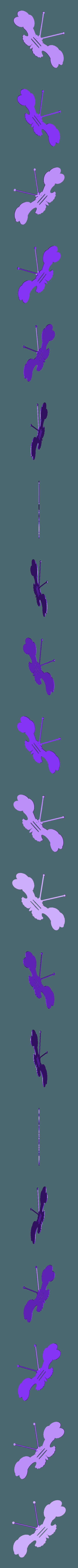 Flappy_Moth_3dprintny.stl Download free STL file Butterfly Fun • 3D print template, barb_3dprintny
