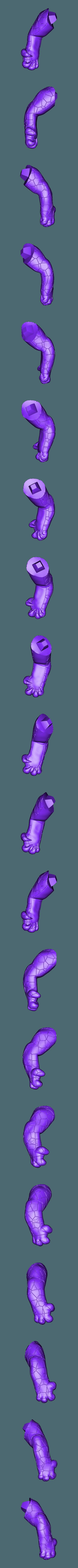 Renekton Chibi 20cm - Right Arm.stl Télécharger fichier STL gratuit Renekton Chibi - League Of Legends • Objet pour impression 3D, BODY3D