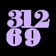 Cardinal_Numbers.STL Télécharger fichier STL gratuit Сlock sur le mur • Plan pour imprimante 3D, gaevskiiy