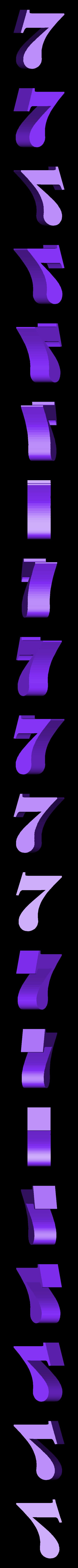 Number_7.stl Télécharger fichier STL gratuit Сlock sur le mur • Plan pour imprimante 3D, gaevskiiy