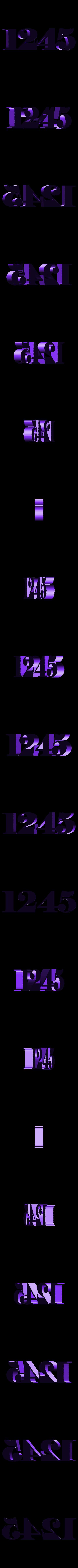 Numbers_1245.stl Télécharger fichier STL gratuit Сlock sur le mur • Plan pour imprimante 3D, gaevskiiy
