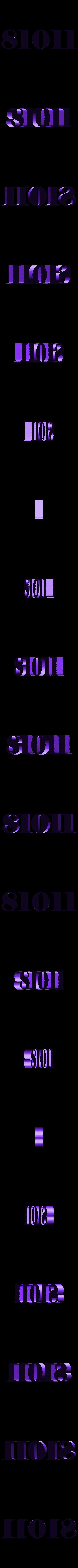Numbers_81011.stl Télécharger fichier STL gratuit Сlock sur le mur • Plan pour imprimante 3D, gaevskiiy