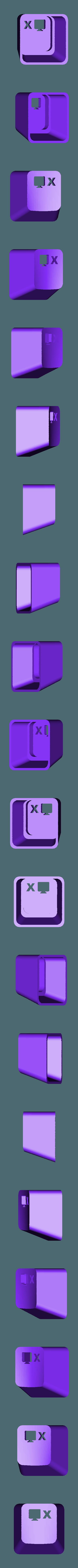 key_SWP_X.stl Download free STL file Key cap • 3D printing object, MakeItWork