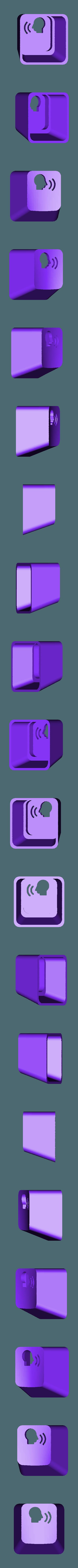 key_voice1.stl Download free STL file Key cap • 3D printing object, MakeItWork