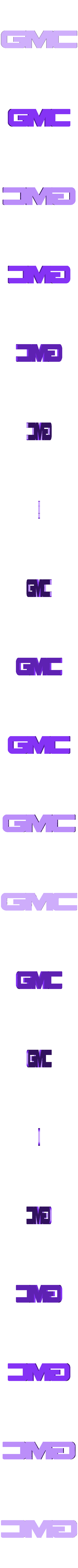 GMC.stl Download free STL file GMC logo • 3D print model, MakeItWork