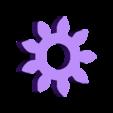 Gears_Gear.stl Download free SCAD file Cat gears key chain. • 3D printer object, Urukog