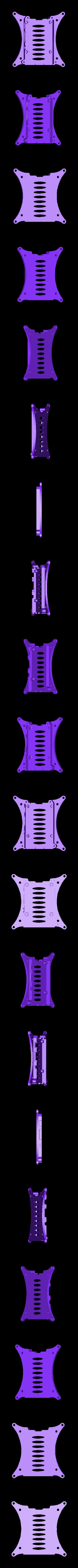 rpi3-bottom_100mm-vesa_netfabb.stl Télécharger fichier STL gratuit Coffret Framboise Pi 3 (B/B+), Pi 2 B et Pi 1 B+ avec supports VESA et plus. • Objet imprimable en 3D, Aralala