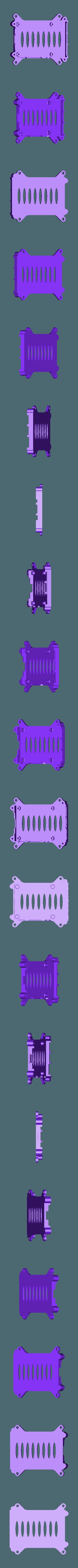 rpi2-bottom_netfabb.stl Télécharger fichier STL gratuit Coffret Framboise Pi 3 (B/B+), Pi 2 B et Pi 1 B+ avec supports VESA et plus. • Objet imprimable en 3D, Aralala